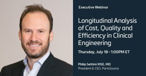 Longitudinal Analysis of Cost, Quality, and Efficiency in Clinical Engineering