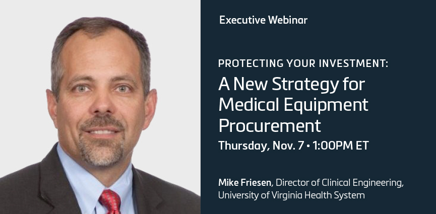 A New Strategy for Medical Equipment Procurement Webinar