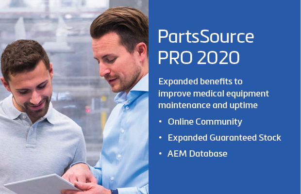 PartsSource Launches PartsSource Pro 2020 with New Online Community, Expanded Guaranteed Stock, and Industry's First AEM Program Database to Improve Medical Equipment Maintenance and Uptime