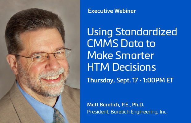 Using Standardized CMMS Data to Make Smarter HTM Decisions Webinar