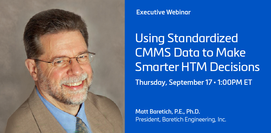 Using Standardized CMMS Data to Make Smarter HTM Decisions