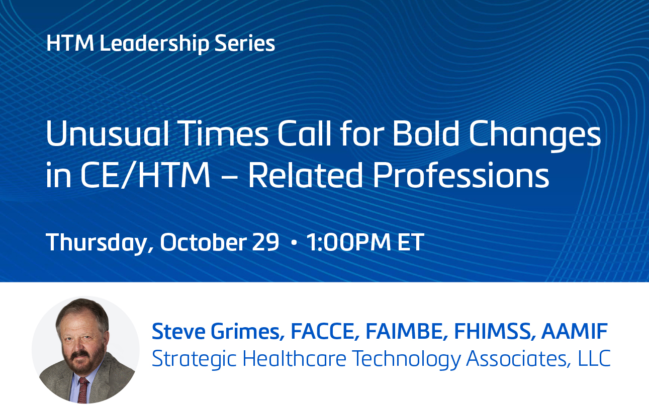 Unusual Times Call for Bold Changes in CE/HTM – Related Professions