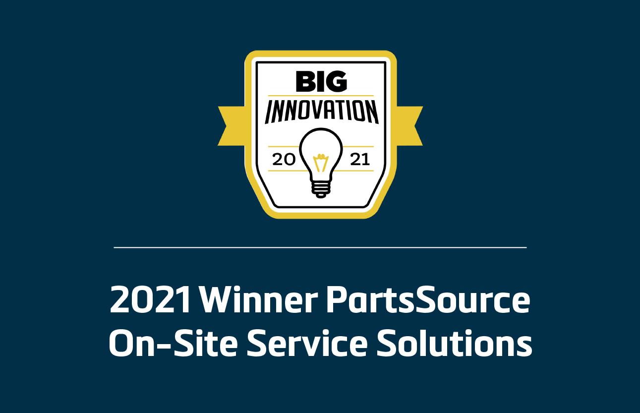 PartsSource On-Site Service Solutions 2021 Winner